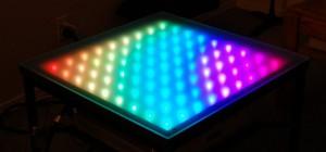DIY : Une table basse à LED qui change de couleur avec Twitter