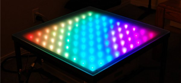 diy une table basse led qui change de couleur avec twitter semageek. Black Bedroom Furniture Sets. Home Design Ideas