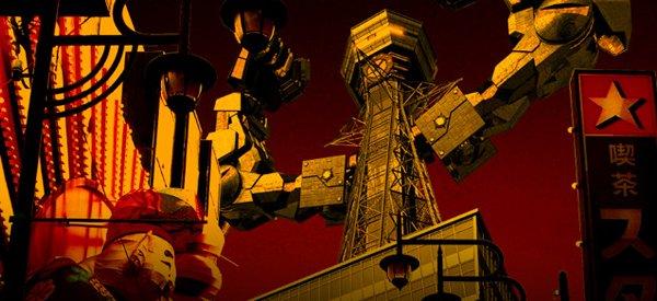 Vidéo :  Un robot Tsutenkaku au look de Tour Eiffel
