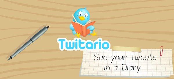 Twitter : Afficher vos tweets comme dans un journal intime avec Twitario