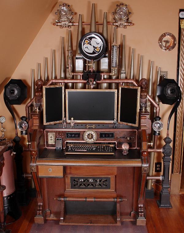 victorian organ command desk une station de travail steampunk semageek. Black Bedroom Furniture Sets. Home Design Ideas