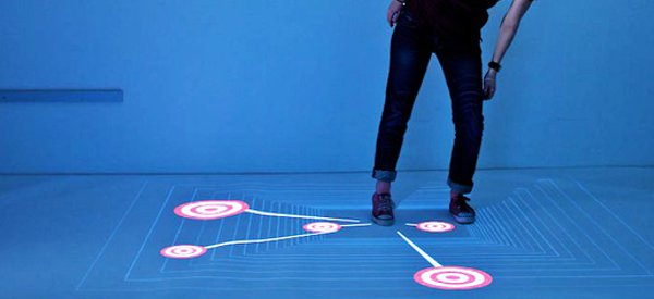 Multitoe : Un écran multitouch contrôlé par les pieds