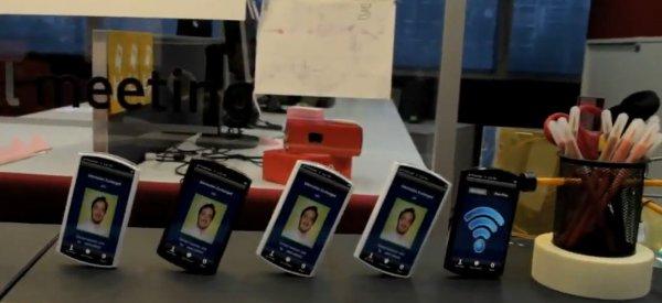 Une machine de Rube Goldberg avec des Smartphone chez Vodafone