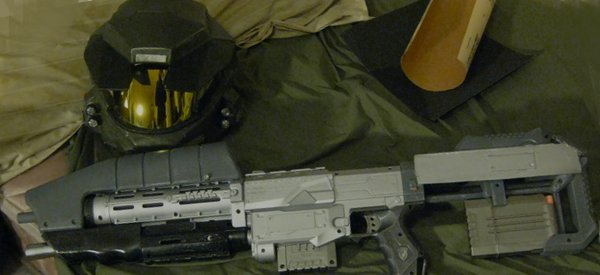 DIY : Transformer un pistolet NERF en arme MA5B de HALO