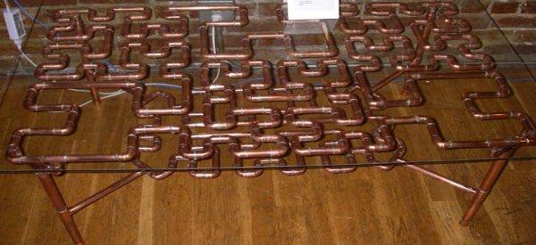 DIY : Fabriquer un table basse SteamPunk avec des tubes en cuivre