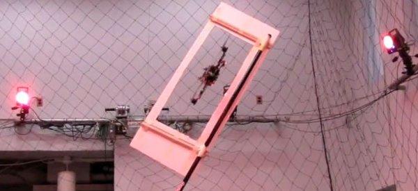 Les manoeuvres agressives et précises d'un drone hélicoptère quadri-rotors