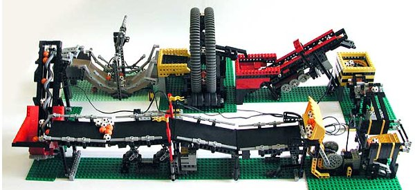 The Great Ball Contraption : Une machine de Rube Goldberg en Lego Mindstorms/Technics