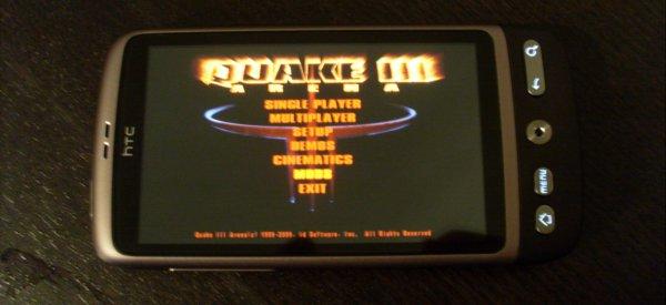 Portage de Quake 3 sur Android avec démonstration sur HTC Desire
