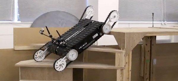 Aucun obstacle n'arrête Quince, le robot secouriste