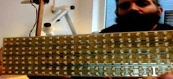 Vidéo : Timelapse de la soudure 192 LED SMD en 1h10