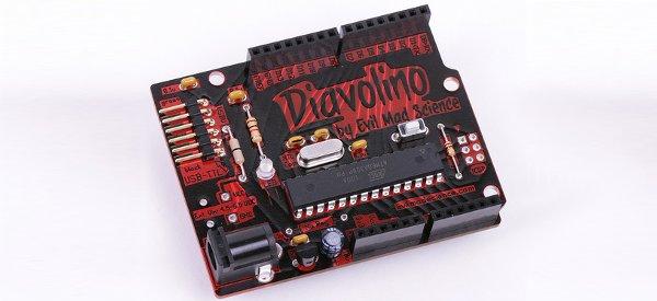 Diavolino : Une carte compatible Arduino à cout réduit et look Evil.