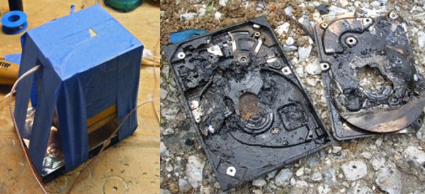 WTF : Auto-destruction de disque dur par Thermite