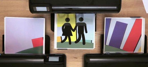 HP Hit Print : Une animation stop motion réalisée avec des imprimantes