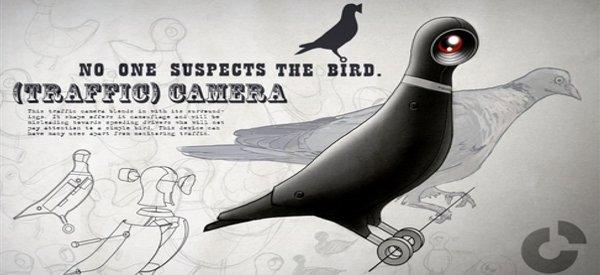 BirdCamera : Le concept du pigeon caméra qui vous espionne dans la rue