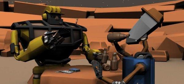 Détente : Des robots feignants et buveurs de bières
