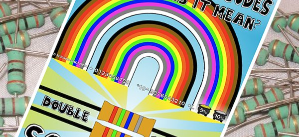 Un poster pour lire les résistances en arc en ciel de couleur