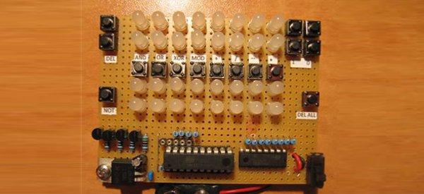 DIY : Une calculatrice binaire 8 bits à LED