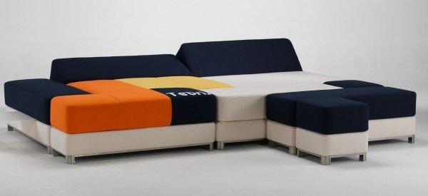 Design : Un canapé lit au look bien geek de Tetris