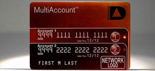 La première carte de crédit multi-compte à bande magnétique programmable.