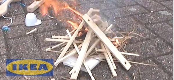 DIY : Faire du feu juste avec des articles de chez Ikea