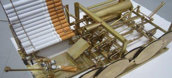 L'incroyable machine à fumer des cigarettes au look steampunk