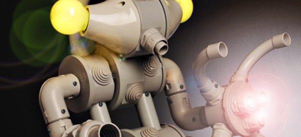 DIY : Des lampes robots réalisés avec des boîtiers électriques