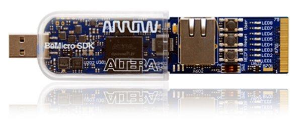 BeMicro SDK : Un kit électronique USB à base du FPGA Altera Cyclone IV intégrant le softcore NIOS II