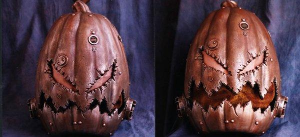 Un Masque tête de citrouille d'Halloween à la sauce Steampunk