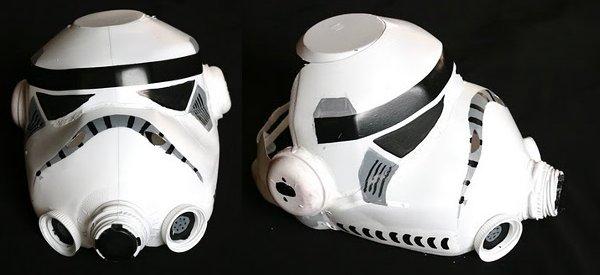 DIY : Fabriquer un casque StormTrooper avec des bouteilles de lait