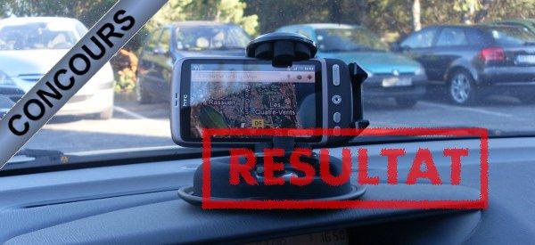 Résultat du concours Novodio IRoad : le support universel pour appareils mobiles.