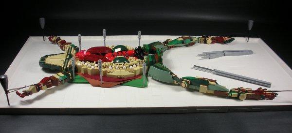 LEGO Art : la dissection d'une grenouille en LEGO