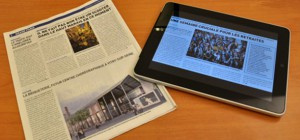 Miratech réalise une étude sur la différence de lecture entre un Ipad et un journal