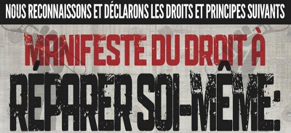 """DIY : """"Manifeste du droit à réparer soi-même"""" de IFixIt"""