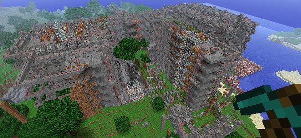 Découverte du jeu vidéo Minecraft avec un CPU 8 Bits fonctionnel