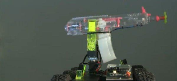 Squirt : le robot pistolet à eau piloté par bluetooth avec un téléphone Android