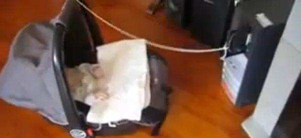 DIY : Comment un programmeur geek berce son bébé avec un simple lecteur CD-Rom