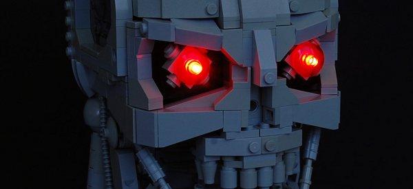 Un magnifique buste du Terminator T-800 reproduit en LEGO