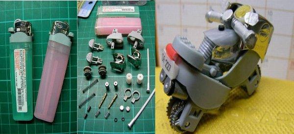 DIY : Fabriquer une mini moto avec 2 briquets pas chers