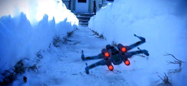 Un fan de Star Wars transforme une tranchée dans la neige en attaque de l'étoile noire