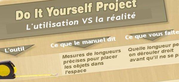Infographie : DIY Project - L'utilisation VS la réalité