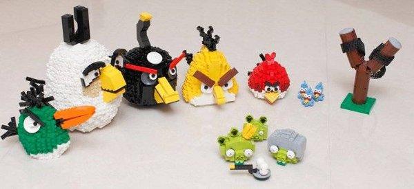 Les personnages d'Angry Birds reproduits en LEGO