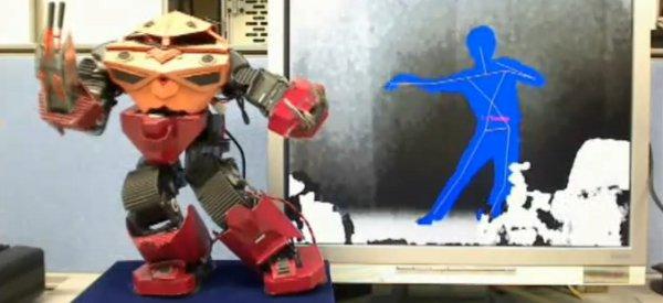 V-Sido : Contrôler un robot humanoïde a l'aide d'un Kinect