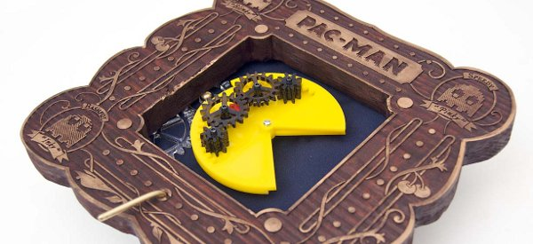 The Pactuator : Un mouvement d'horlogerie à manivelle qui anime un Pacman