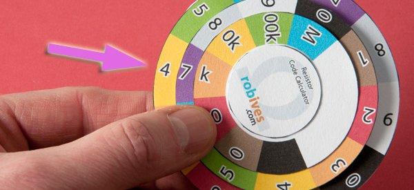 Resistor Colour Wheel : Un outil pas cher pour calculer la valeur des résistances
