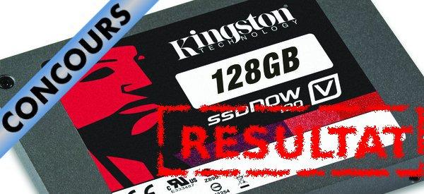 Résultat du concours Kingston SSDNow V100 128 Go