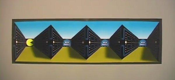 DIY : Fabriquer un poster avec une illusion d'optique sur thème de Pacman