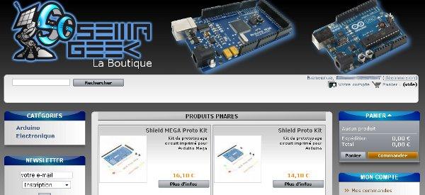 Une boutique Semageek pour acheter des kits Arduino
