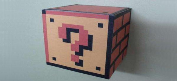 DIY : Fabriquer le vrai bloc surprise de Super Mario qui vous file des pièces
