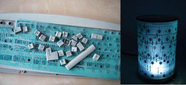 DIY : Fabriquer une lampe de chevet bien geek avec un vieux clavier