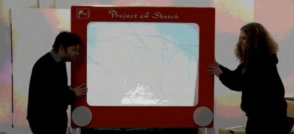 Project A Sketch : Un télécran géant à base d'Arduino qu'il faut manipuler à deux